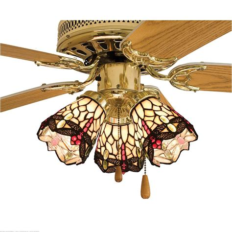 stained glass ceiling fan light shades meyda tiffany 4 quot w scarlet dragonfly fan light shade
