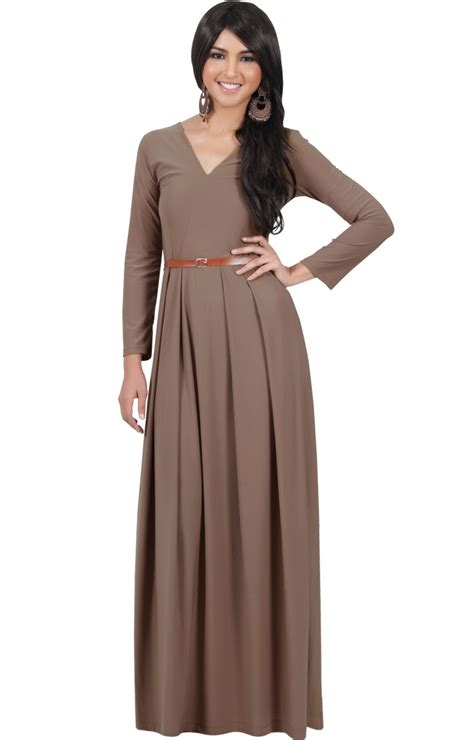 Maxy Is floor length sleeve maxi dress