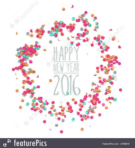 happy new year 2016 template illustration of happy new year 2016 confetti simple