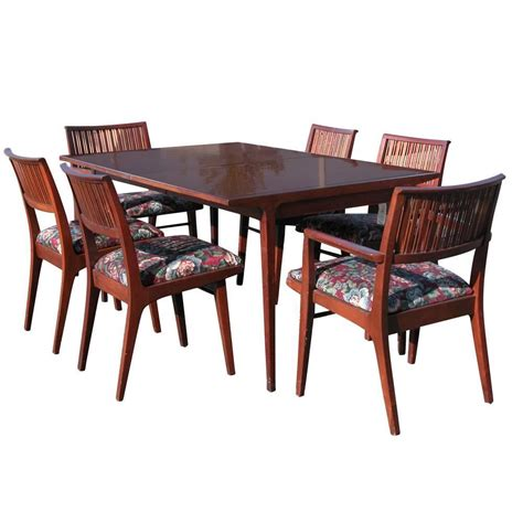 Drexel Dining Room Furniture Drexel Counterpoint Table And Six Chairs Designed By Koert For Sale At 1stdibs