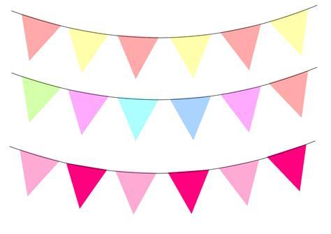 Bunting Flag Bendera Ulang Tahun Happy Birthday 7 pastel bunting clipart 68