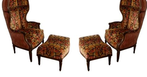 Cing Chairs With Foot Rest by Pair Of Porters Chairs With Matching Foot Rests Hooded