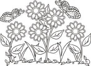 coloring pages of flowers and gardens fiori e farfalle da colorare idee green
