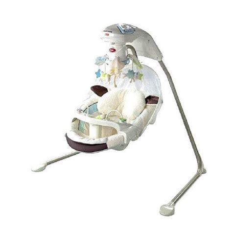 Fisher Price My Little Lamb Papasan Baby Cradle Swing New