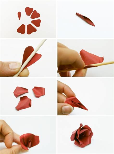 How To Make Flower Out Of Paper Step By Step - 1000 images about flower on quilling