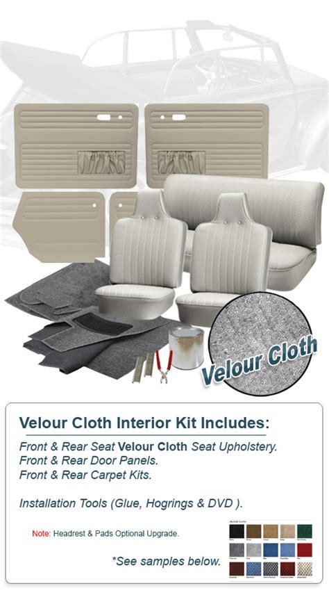 Vw Bug Interior Kit by Deluxe Velour Cloth Vw Interior Kit Beetle Convertible 1970 Vw Parts Jbugs