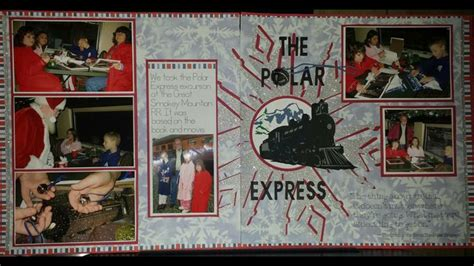 sle layout of scrapbook 17 best polar express images on pinterest train trains