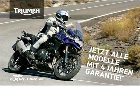 Triumph Motorrad Garantie by Triumph Garantiezeit Motorrad News