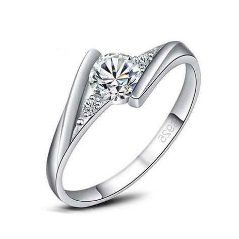 wholesale price fashionable accessories white gold cz