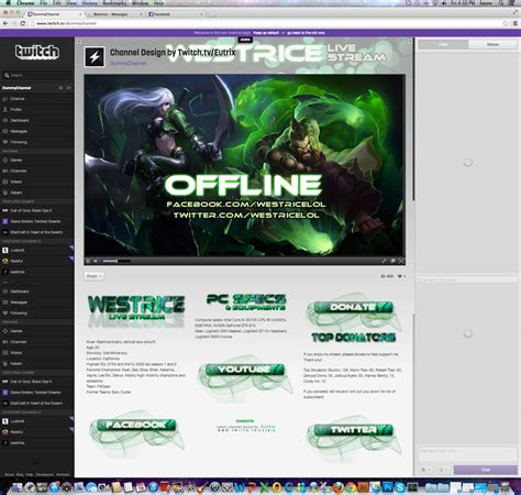 how to change channel layout august 2015 new youtube twitch channel layout for westrice by ciael on deviantart