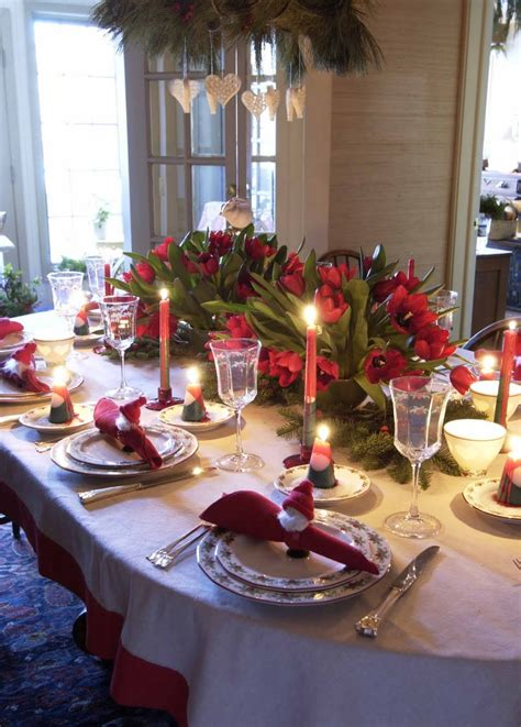 beautiful table dining room festive christmas dinner table decorating