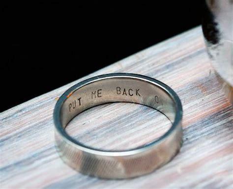 Wedding Ring Joke by Reminder Inscripted Wedding Rings Engraved Ring