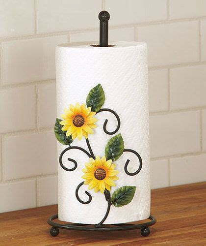 country sunflower kitchen decor country yellow sunflower kitchen paper towel holder decor