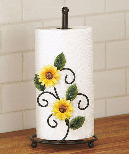Decorating Ideas Sunflower Yellow Kitchen Country Yellow Sunflower Kitchen Paper Towel Holder Decor
