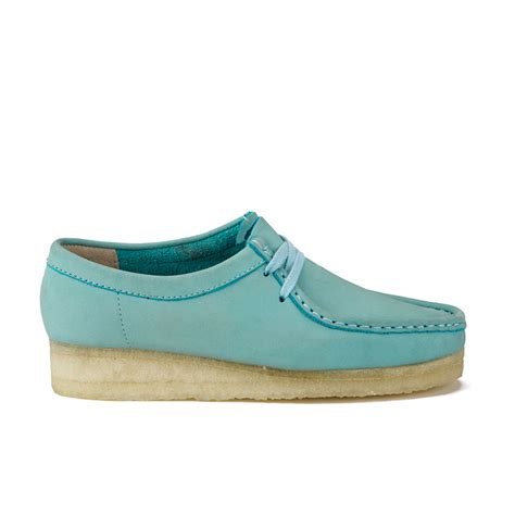 light blue shoes womens clarks originals s wallabee shoes light blue