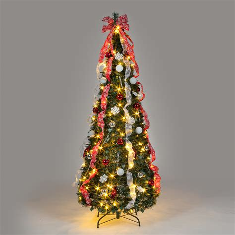 6ft pre lit pop up christmas tree with 150 leds