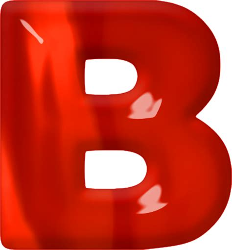 Presentation Alphabets: Red Glass Letter B