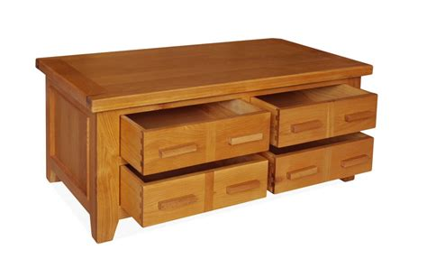 coffee table with drawers canterbury oak storage coffee table with drawers