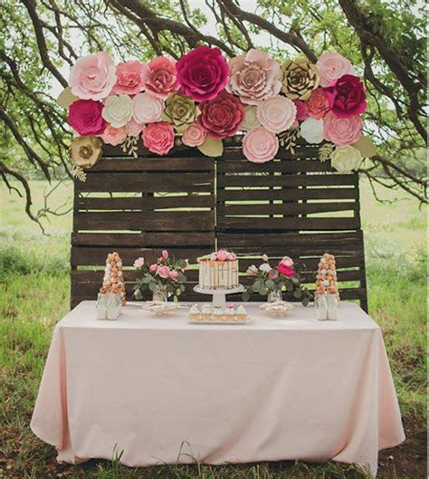 Flowers For Baby Shower by Large Paper Flower Backdrop For Weddings Baby Showers Or