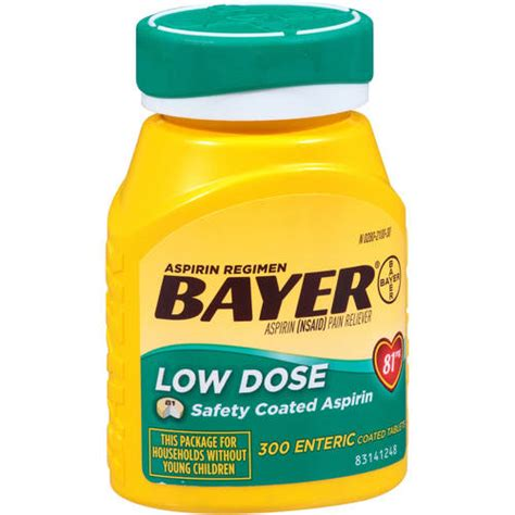 aspirin walmart bayer low dose 81mg aspirin regimen 300 ct walmart