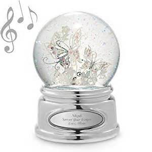 amazon com butterfly snow globe personalized snowglobes