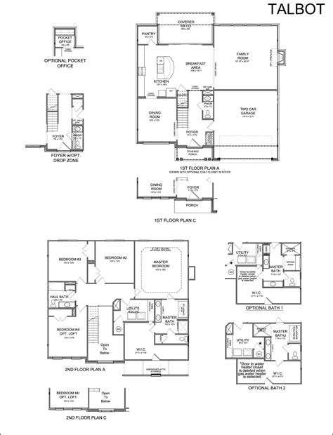 ball homes floor plans floor plans talbot