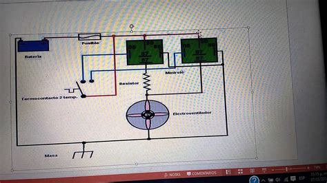 circuito electrico de  electro ventilador de dos