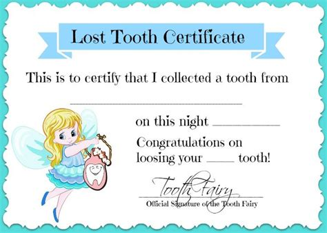 Certificate Lost Letter Best 20 Tooth Letters Ideas On