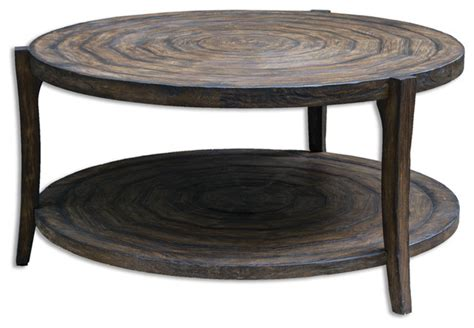 uttermost 25654 pias rustic coffee table transitional