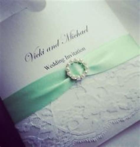mint wedding invitations uk personalised wedding invitations lace mint green white