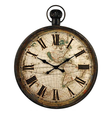 Wall Watch | french antique iron pocket watch style large wall clock