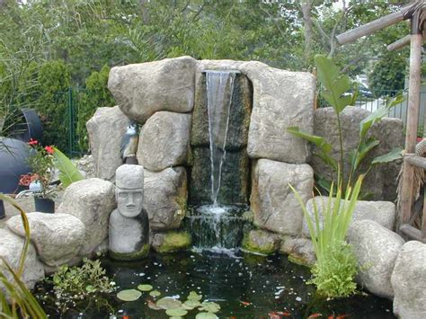 Faux Rocks For Garden Ponds And Waterfalls This Is A Picture Of Another Faux Rock Waterfall Gardening Ideas