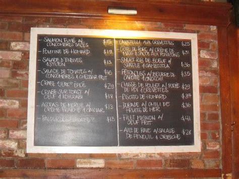 black board menu picture  garde manger montreal tripadvisor