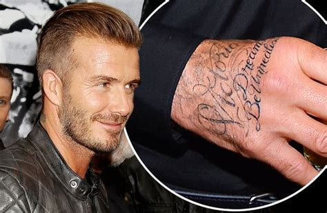 david beckham tattoo jay z david beckham tattoos jay z lyrics on his hand