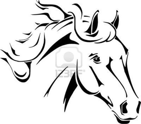 horse head coloring pages to print horse head vector in