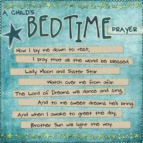 Prayers Before Bed by Bedtime Quotes Quotesgram
