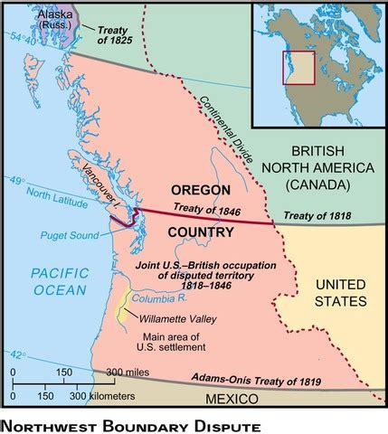 oregon country map 1846 apush unit 5 us history project timeline timetoast timelines