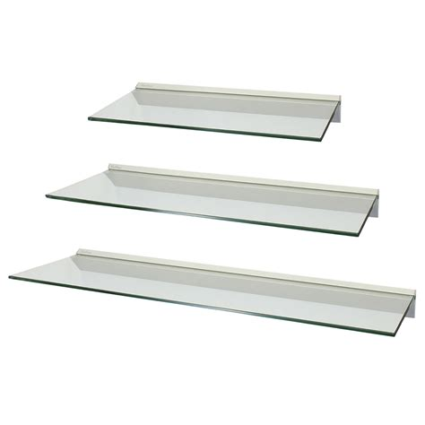 clear shelves for wall set of 3 clear floating glass wall shelves storage display