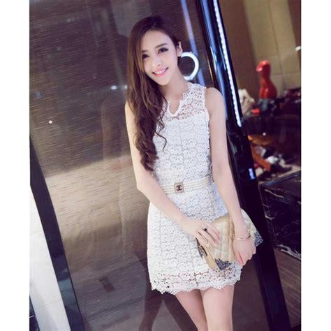 Dress Mutiara Pinggang dress brukat tanpa lengan d2118 moro fashion