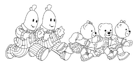 bananas in pyjamas coloring pages coloringpages1001 com