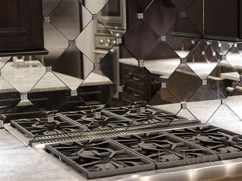 residence antique mirror backsplash tiles