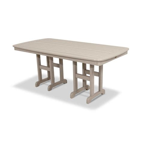 Trex Outdoor Furniture Monterey Bay 48 In Classic White White Patio Dining Table