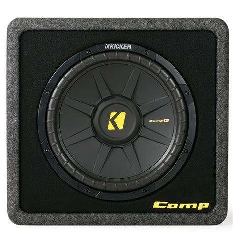 Kickers Limited 4 kicker loaded car bass sub system vcws12 single comps 12 inch subwoofer vented mdf enclosure box