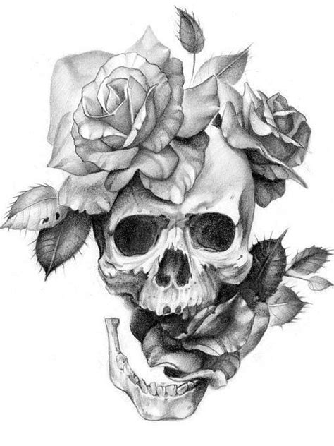 skull and flowers tattoos skull and flowers let them grow skull flower tattoo