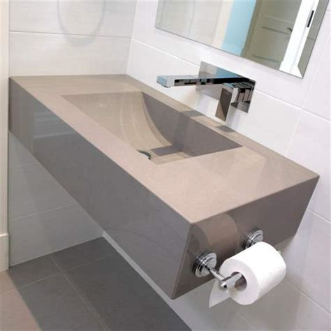 silestone grey expo custom sink casa de banho