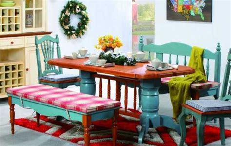 20 Gorgeous Dining Furniture Sets Highlighting Country Colorful Dining Room Tables
