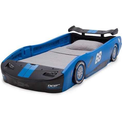 twin race car bed delta children turbo race car twin bed blue ebay