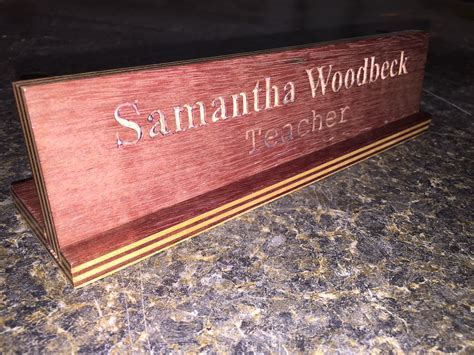 engraved desk name plates engraved desk name plate woodwork by woodbeck