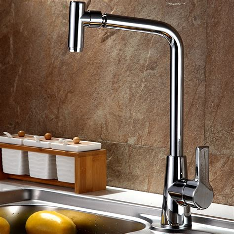 best faucets for kitchen sink best rotatable thick brass kitchen sink faucet