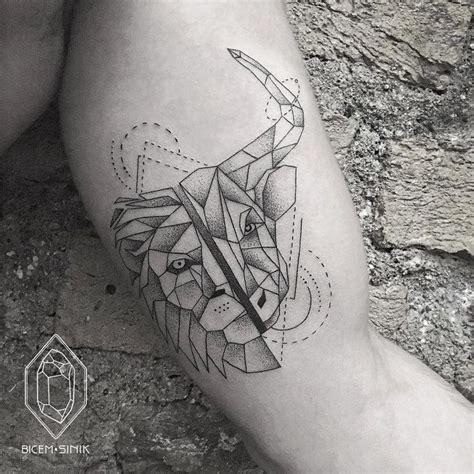 geometric tattoo taurus 30 beautiful geometric tattoos by bicem sinik lions